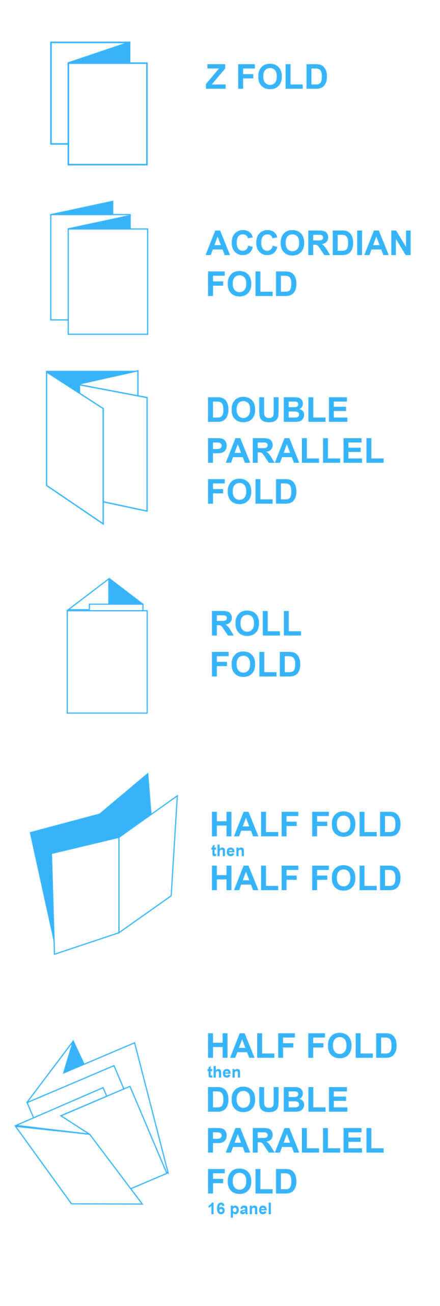 Brochure Folds & Free Templates - Mountain View Printing In Brochure Folding Templates