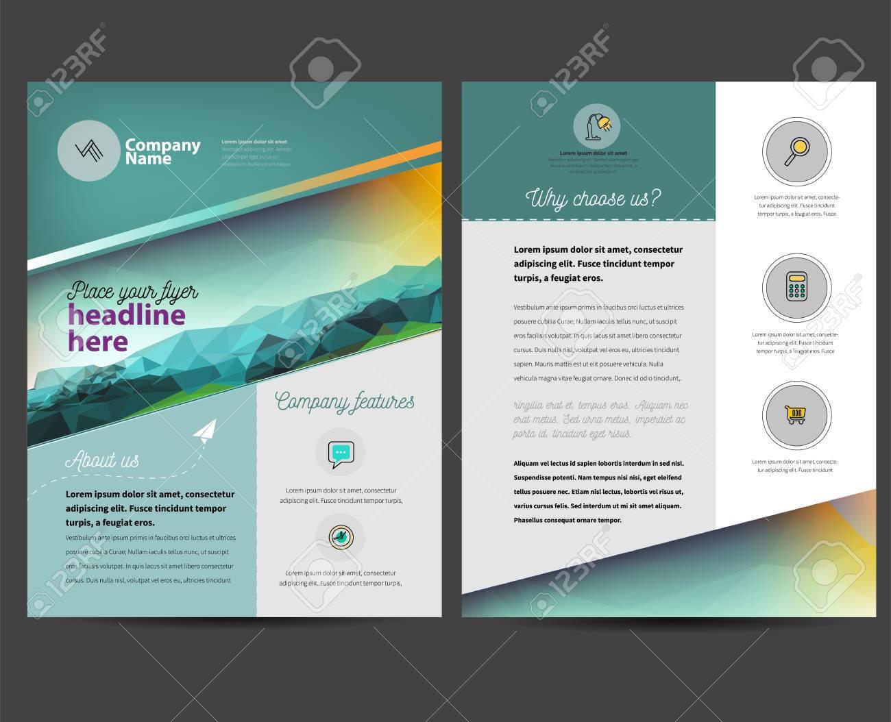 Brochure Or Flyer Design Template In Letter Size In Letter Size Brochure Template