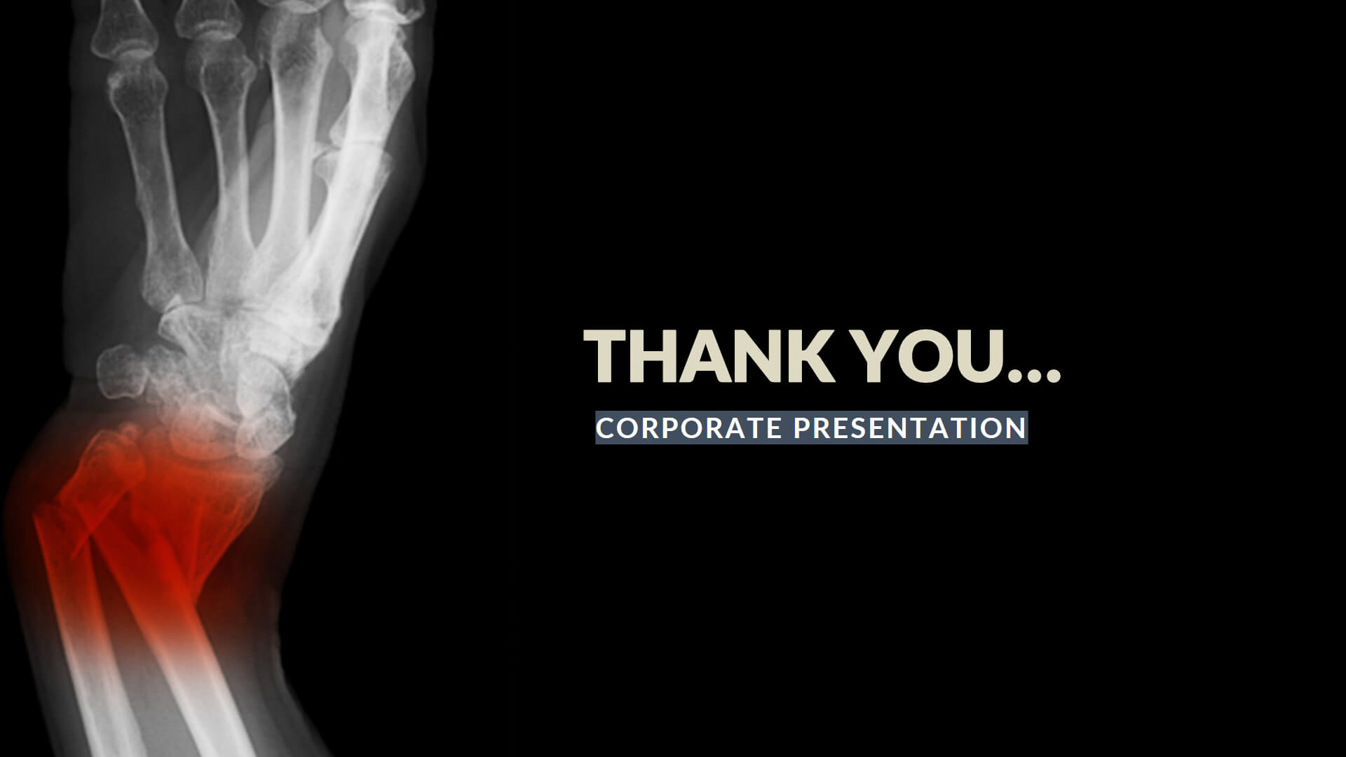 Broken Medical Free Presentation Template With Radiology Powerpoint Template