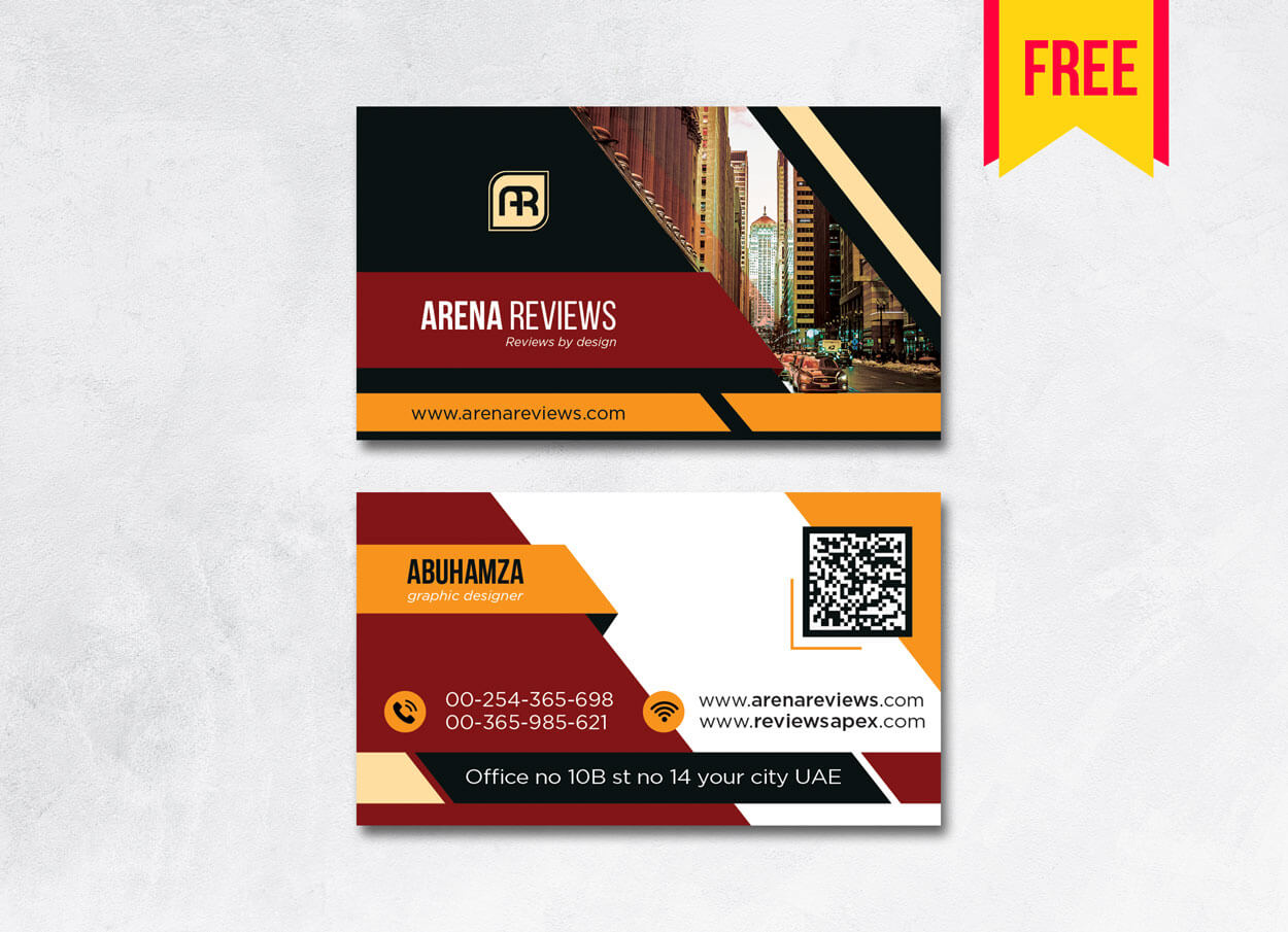 Building Business Card Design Psd – Free Download   Arenareviews Intended For Blank Business Card Template For Word