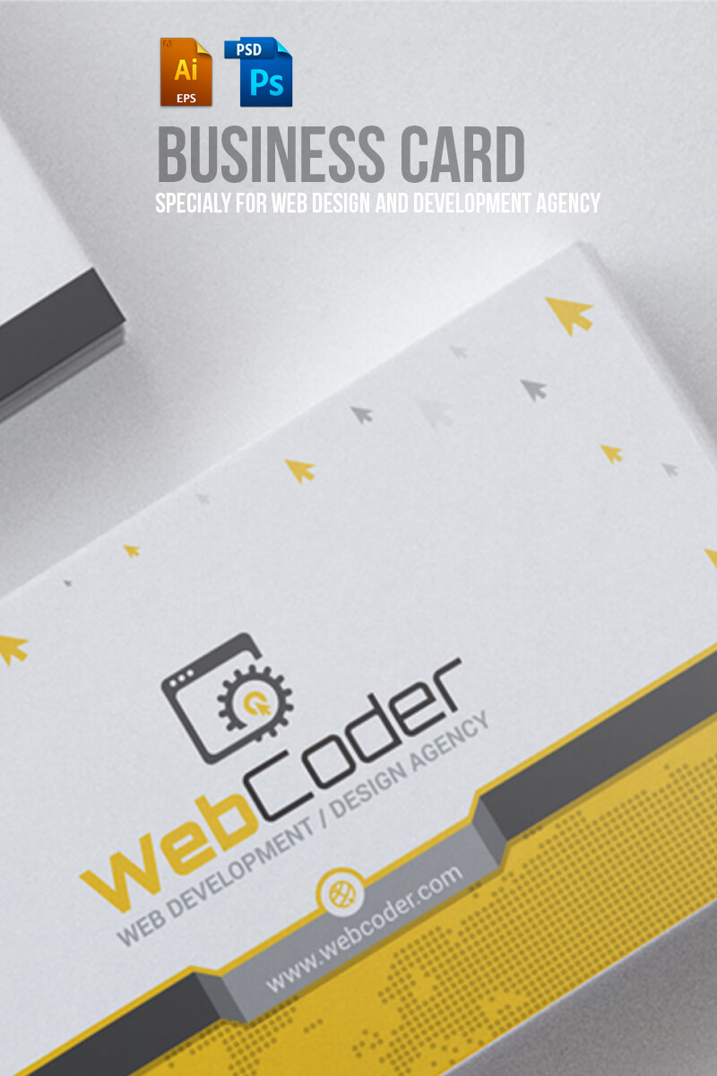 Business Card Design For Web Design And Developer Psd Template Intended For Web Design Business Cards Templates