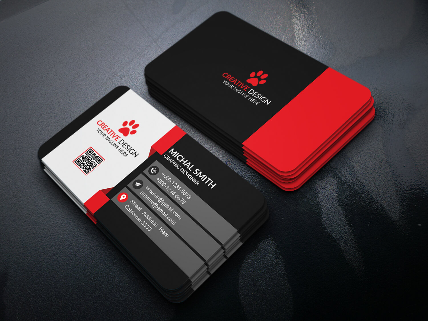 Business Card Design (Free Psd) On Behance Inside Unique Business Card Templates Free