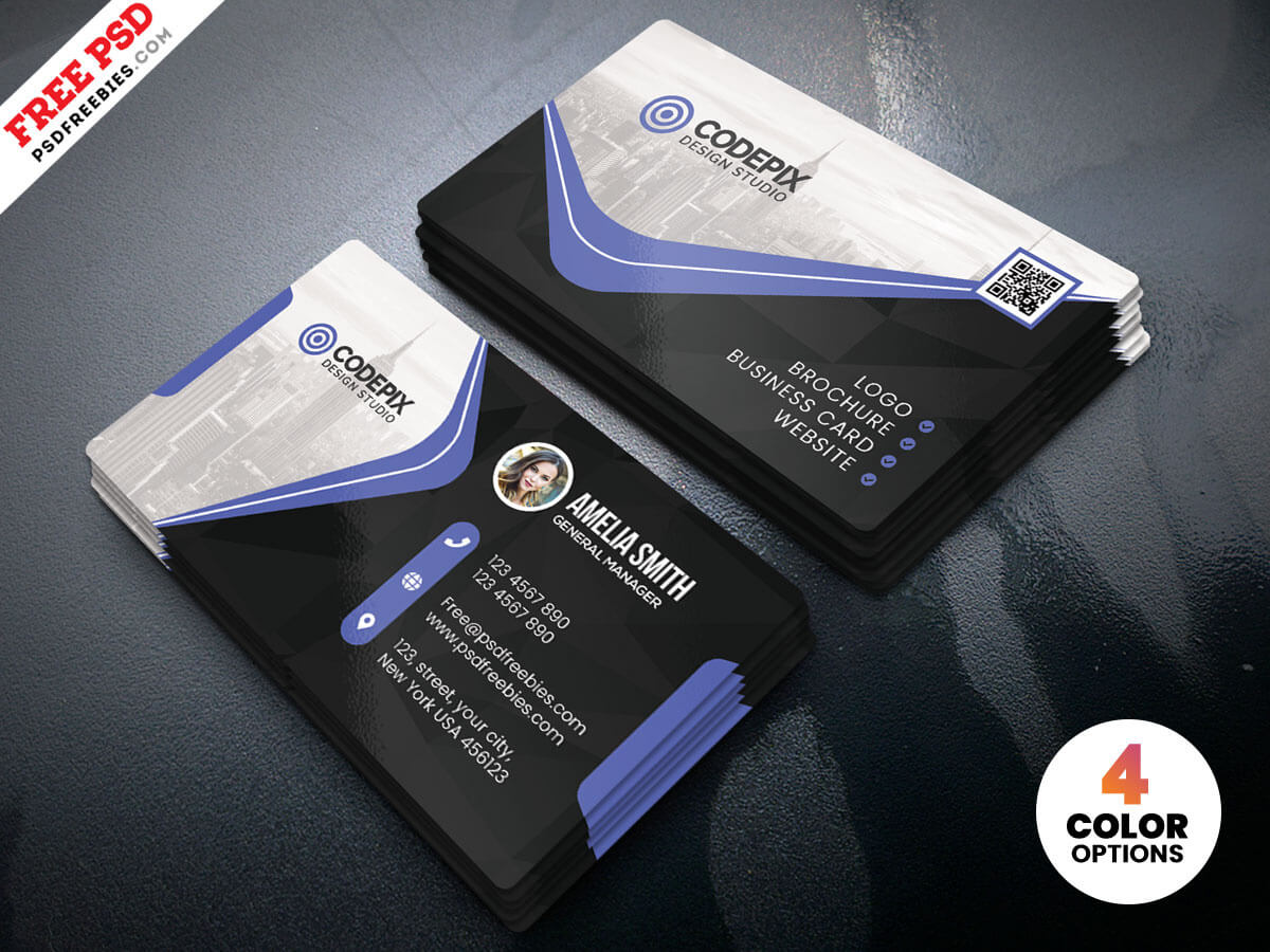 Business Card Psd Templatepsd Freebies On Dribbble Throughout Visiting Card Template Psd Free Download