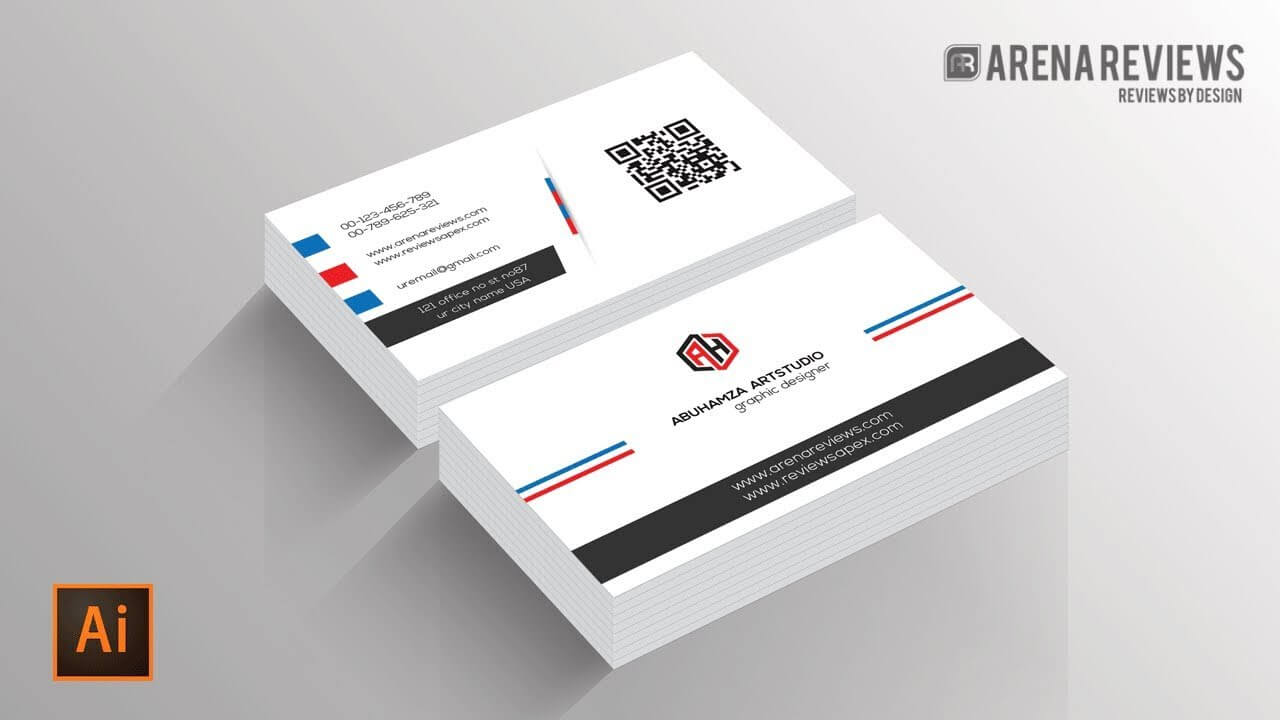 Business Card Template Illustrator – Dalep.midnightpig.co Pertaining To Visiting Card Illustrator Templates Download