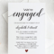 Calligraphy Engagement Invitation Template Script Engagement With Regard To Engagement Invitation Card Template