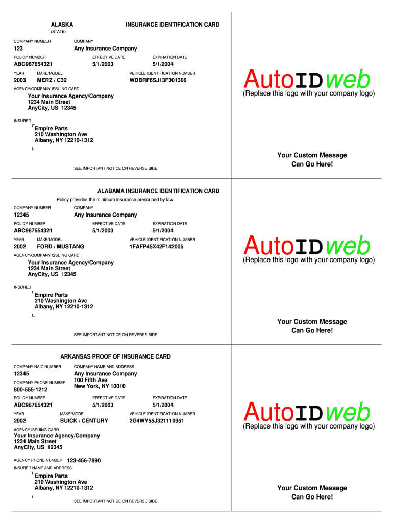 Cap Dat Acord – Fill Online, Printable, Fillable, Blank For Auto Insurance Card Template Free Download