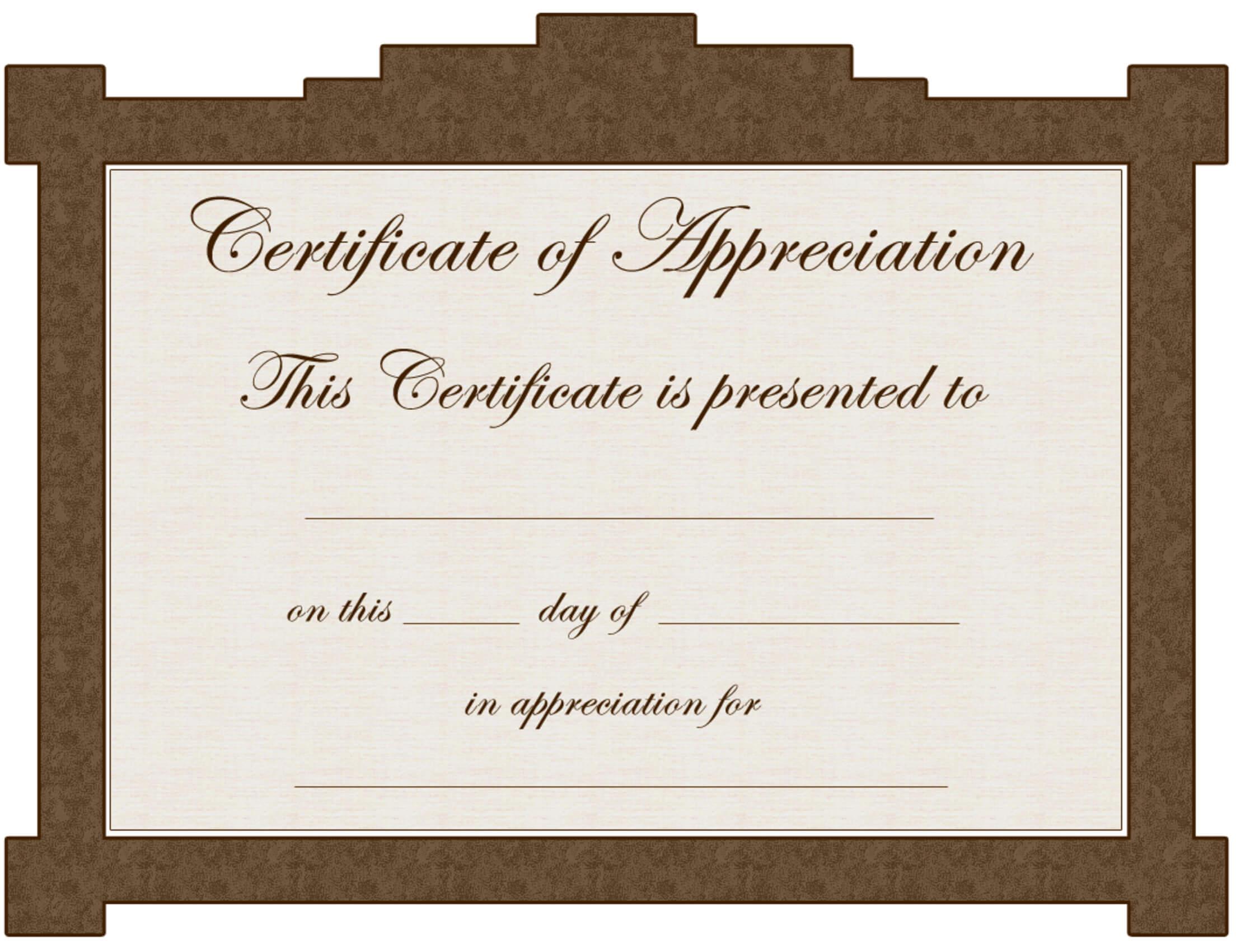 Certificate Of Appreciation Template.nice Editable Regarding Iq Certificate Template