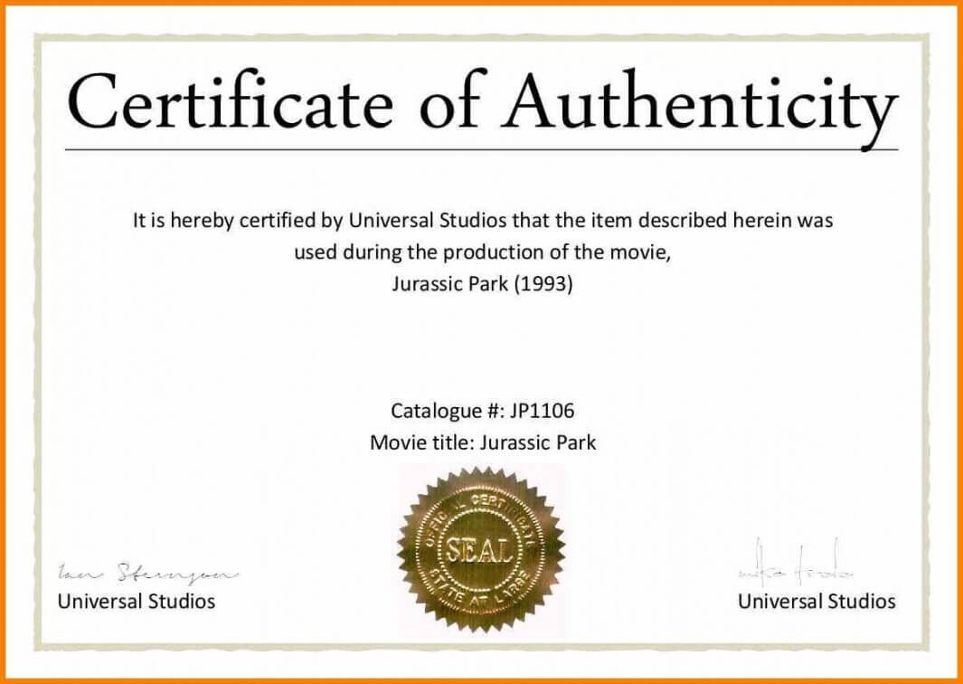 Certificate Of Authenticity Template - Calep.midnightpig.co With Regard To Certificate Of Authenticity Photography Template