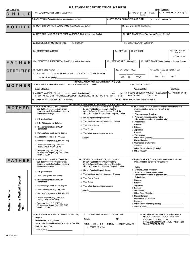 Certificate Of Live Birth Form Editable – Fill Out And Sign Printable Pdf  Template   Signnow Intended For Editable Birth Certificate Template