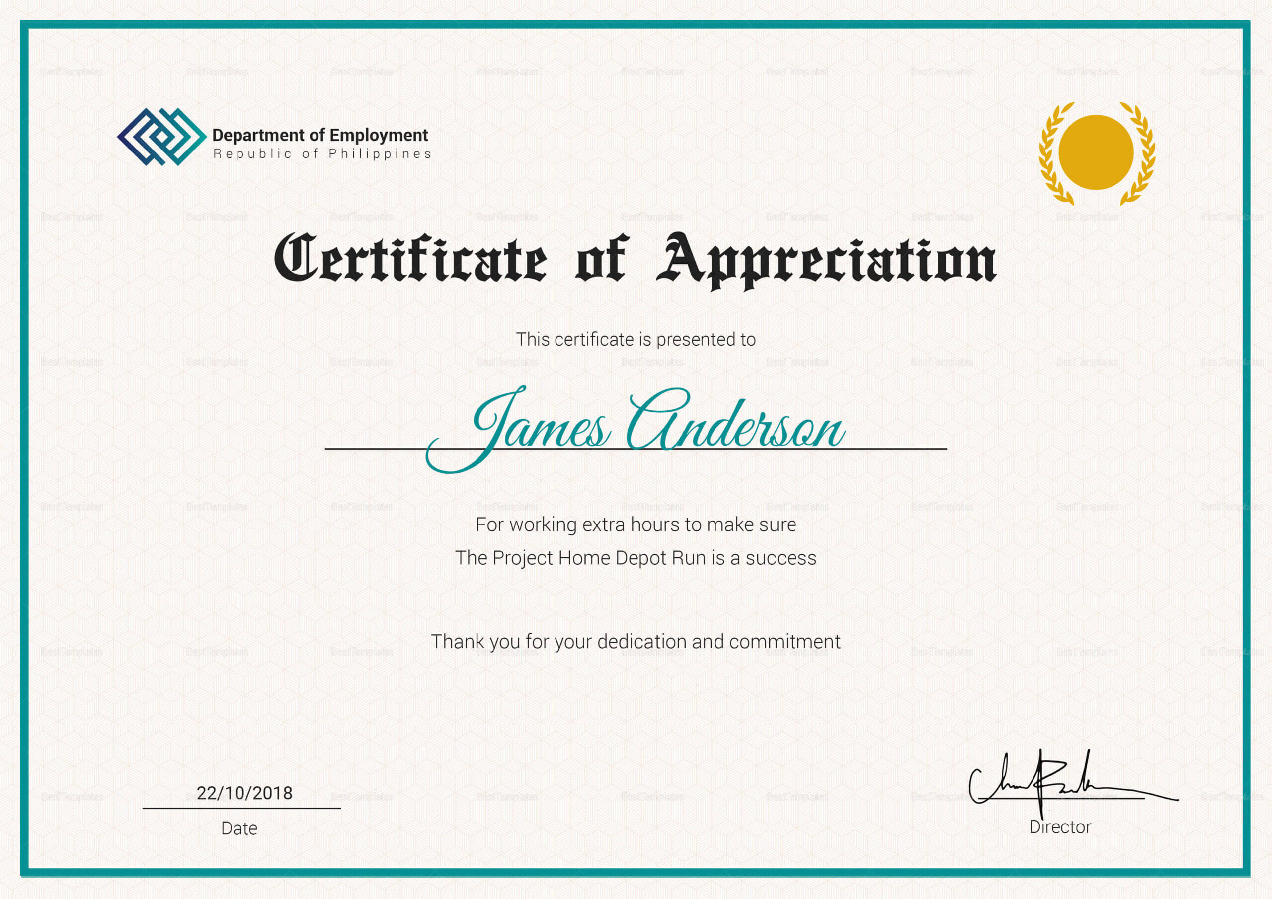 Certificate Of Service Template - Calep.midnightpig.co Pertaining To Certificate For Years Of Service Template