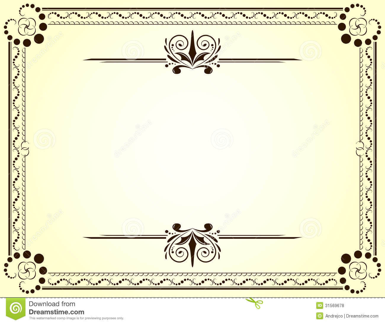 Certificate Stock Vector. Illustration Of Vignette, Frame In Blank Certificate Templates Free Download