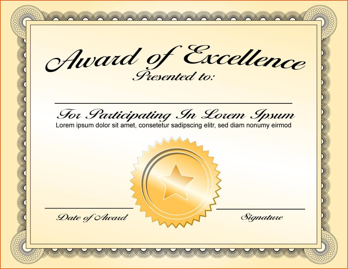 Certificate Template Award | Safebest.xyz Throughout Template For Certificate Of Award