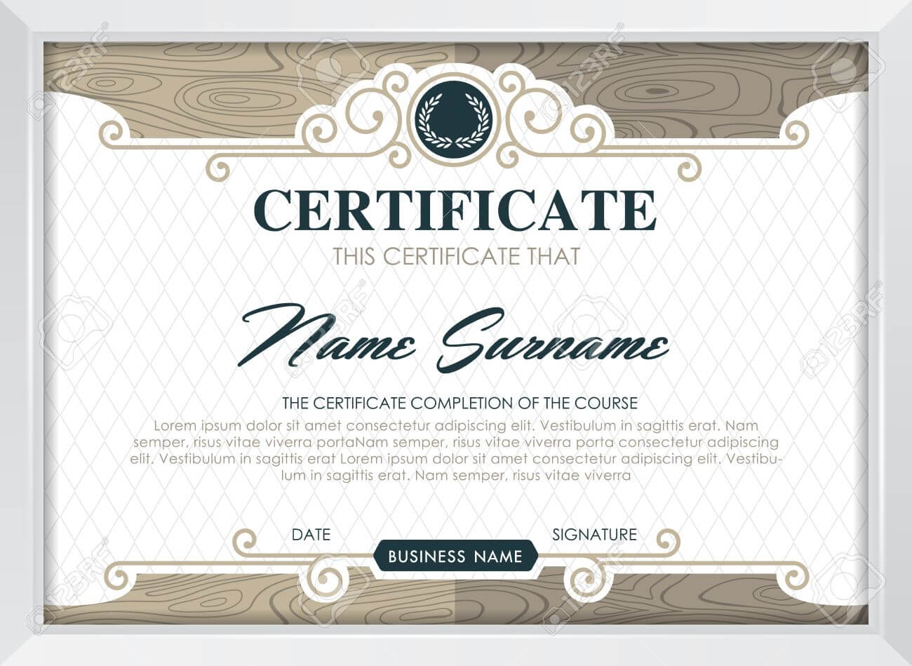 Certificate Template With Clean And Modern Pattern, Luxury  Golden,qualification.. In Qualification Certificate Template
