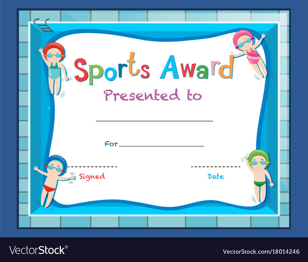 Certificate Template With Kids Swimming Throughout Free Printable Certificate Templates For Kids