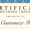 Certificate Template with regard to Certificate Template For Pages