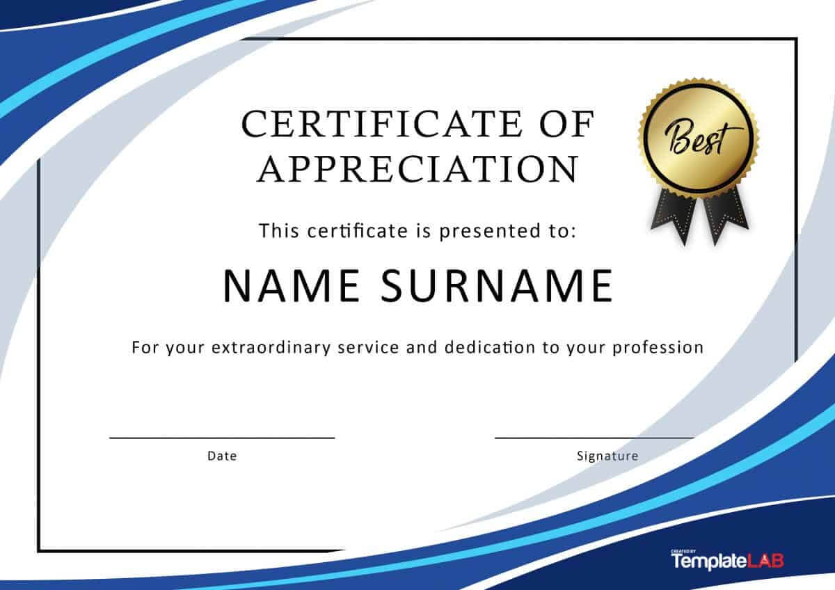 Certificates Of Recognition Free Templates – Dalep With Regard To Template For Certificate Of Award