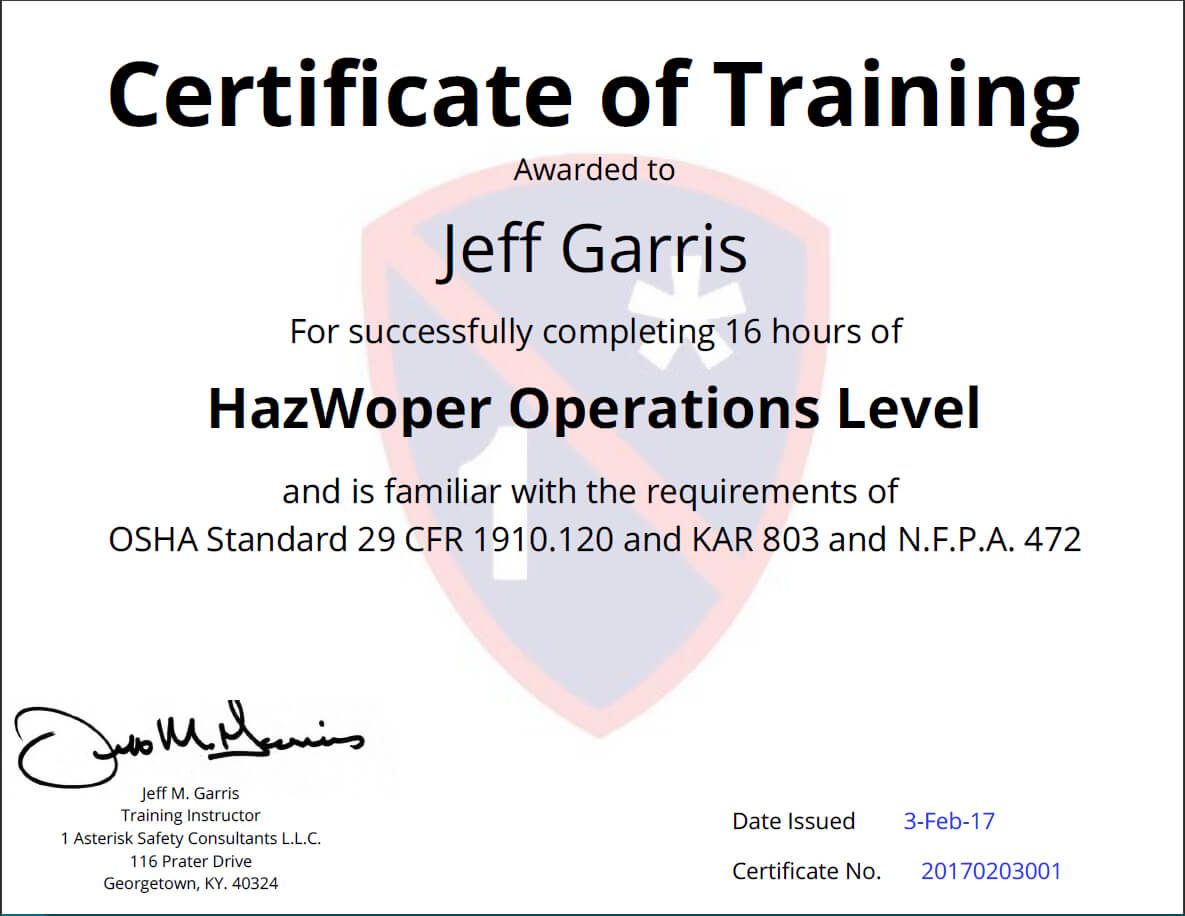 Certificates Of Training Completion Templates - Simplecert Within Safe Driving Certificate Template