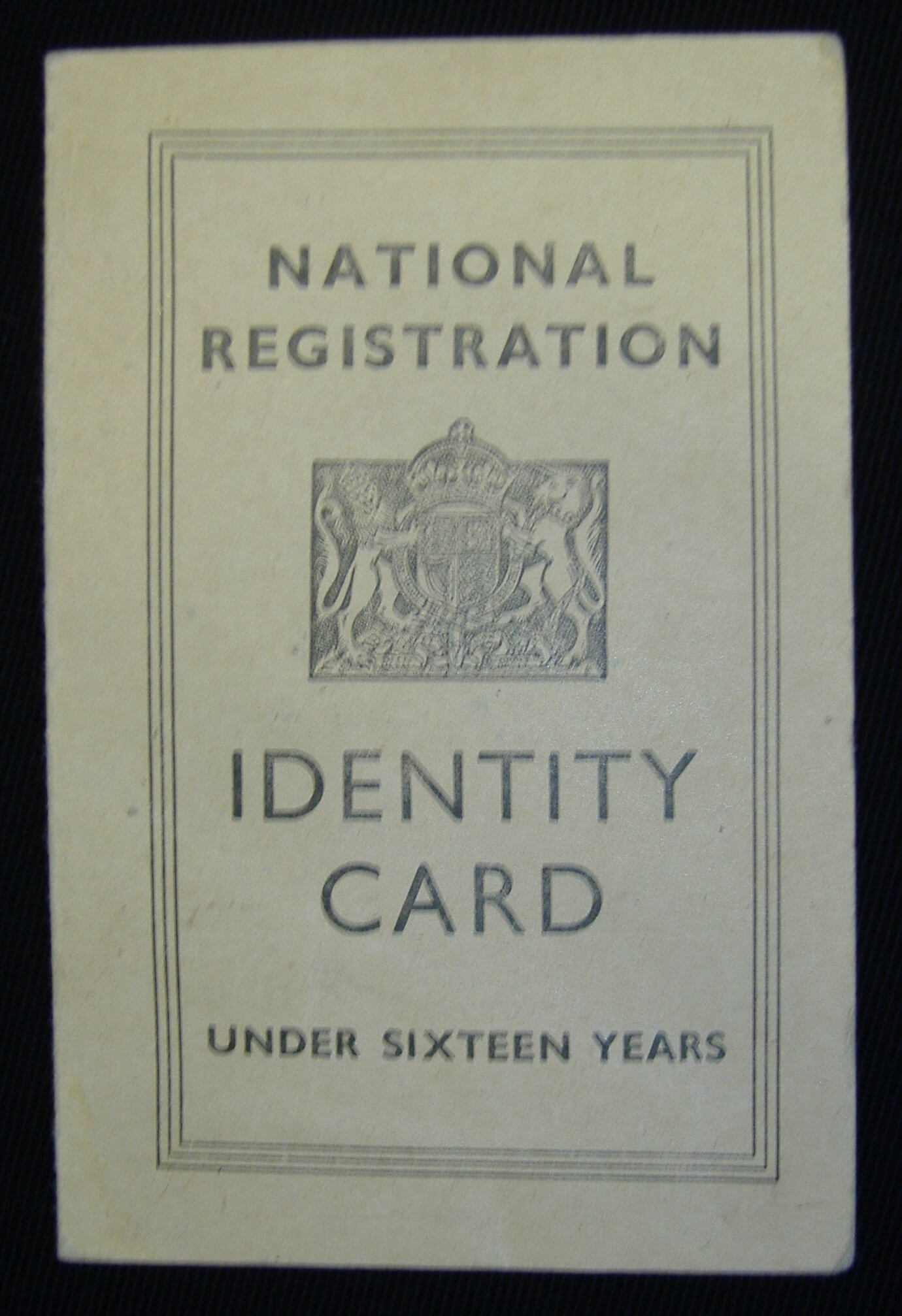 Child's Identity Card: E2Bn Gallery Within World War 2 Identity Card Template