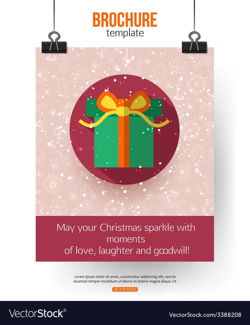 Christmas Brochure Template Abstract Typographical With Regard To Christmas Brochure Templates Free