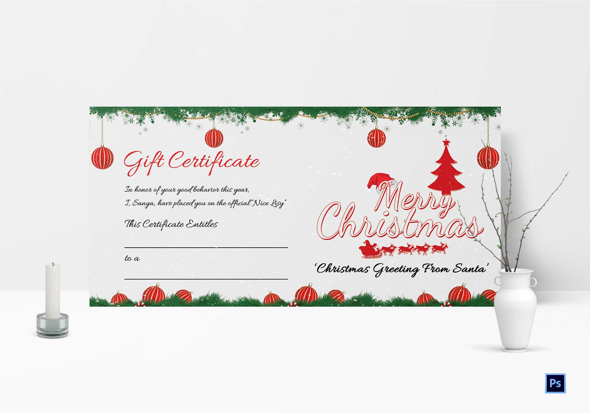 Christmas Gift Certificate Template Free - Calep.midnightpig.co Pertaining To Free Christmas Gift Certificate Templates