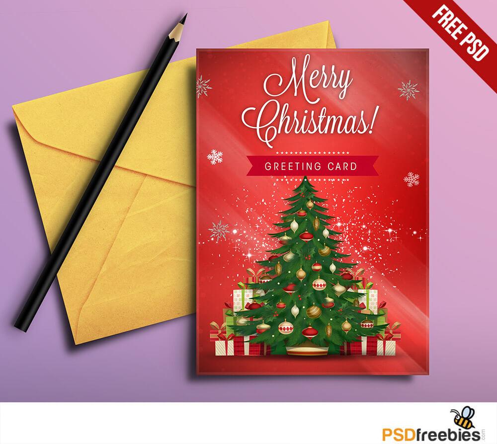 Christmas Greeting Card Free Psd | Psdfreebies Regarding Free Christmas Card Templates For Photoshop