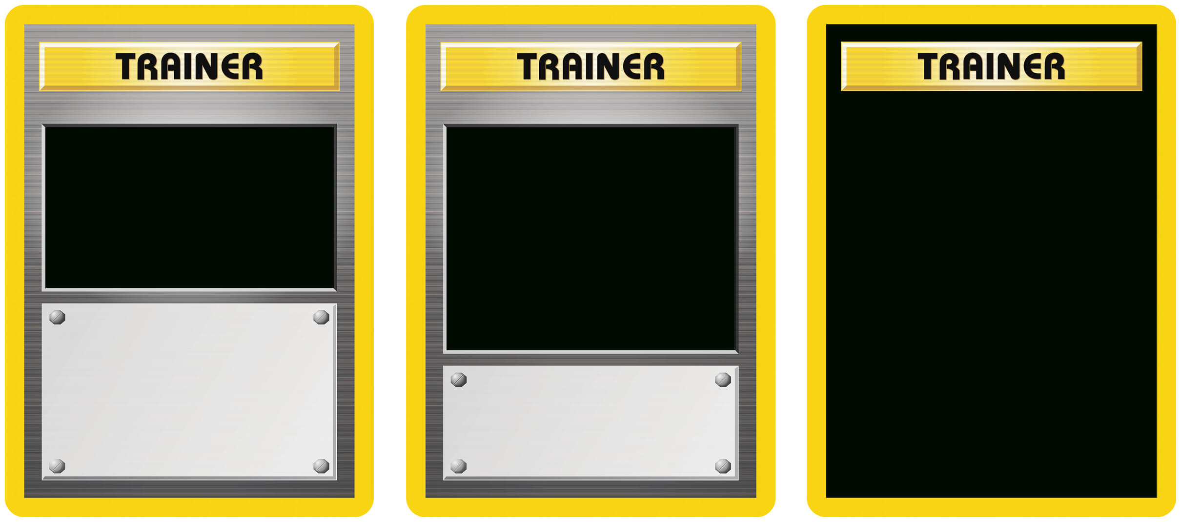 Classic Trainer With Expanded  And Full Art Blanks With Regard To Pokemon Trainer Card Template