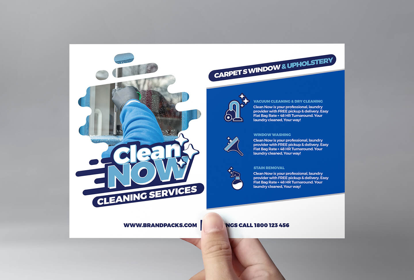 Cleaning Service Flyer Template In Psd, Ai & Vector - Brandpacks Pertaining To Cleaning Brochure Templates Free