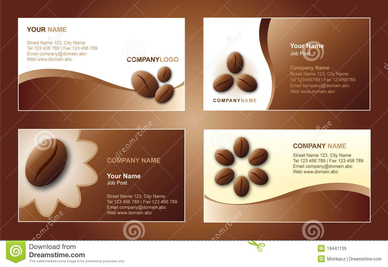 Coffee Business Card Template Stock Vector - Illustration Of With Coffee Business Card Template Free