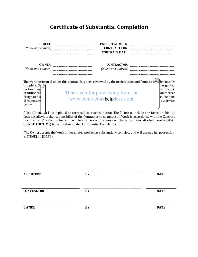 Construction Contract Template Alberta | Cover Letter Examples Inside Construction Certificate Of Completion Template