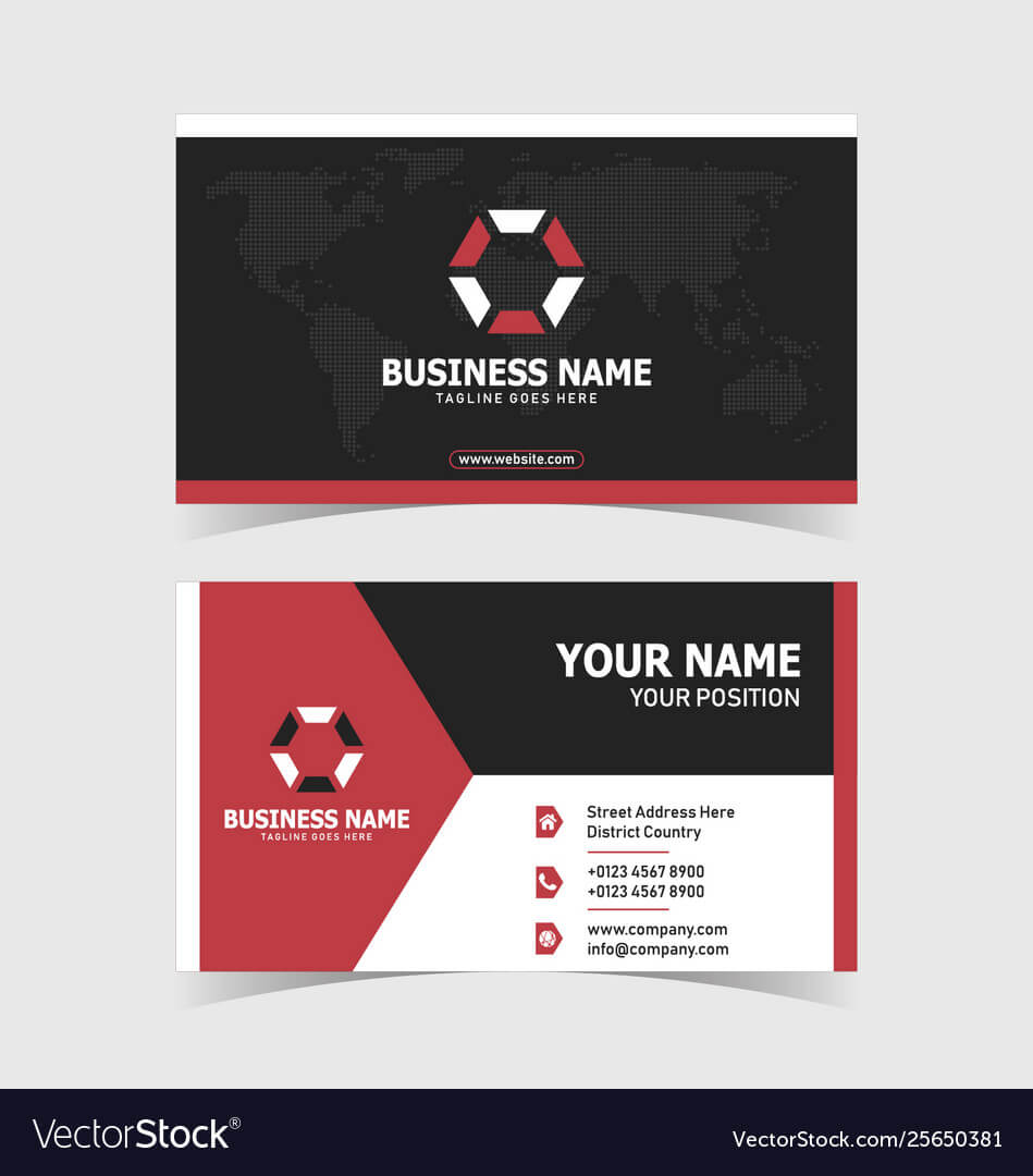 Corporate Double Sided Business Card Template Regarding 2 Sided Business Card Template Word