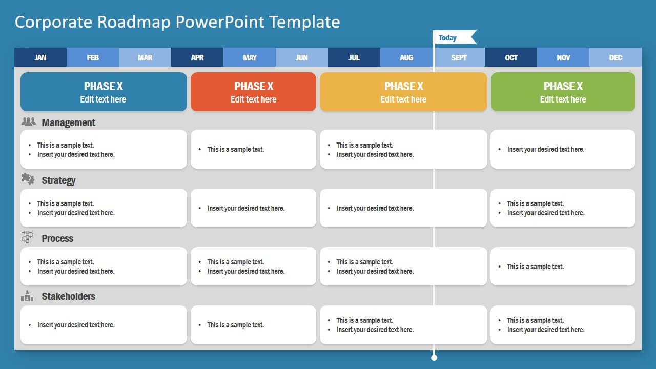 Corporate Roadmap Powerpoint Template Within Weekly Project Status Report Template Powerpoint