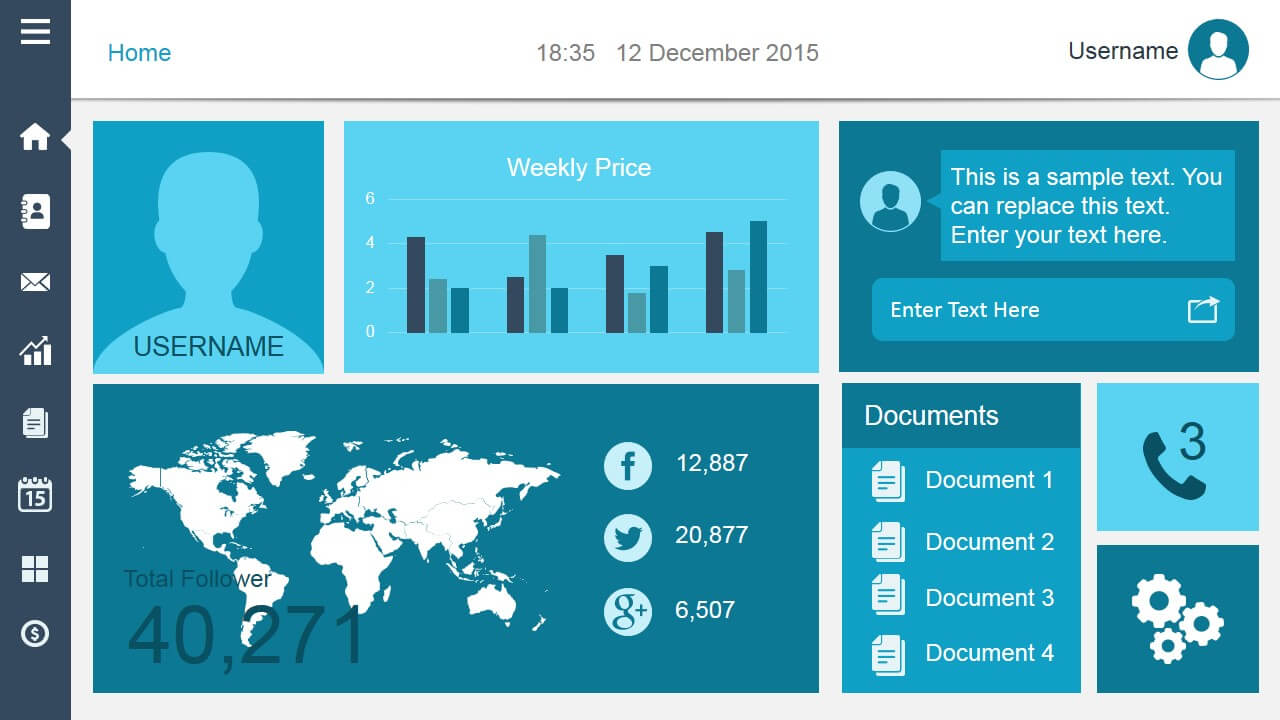 Create Dashboard Slides In Powerpoint Using Smart Dashboard Intended For Powerpoint Dashboard Template Free