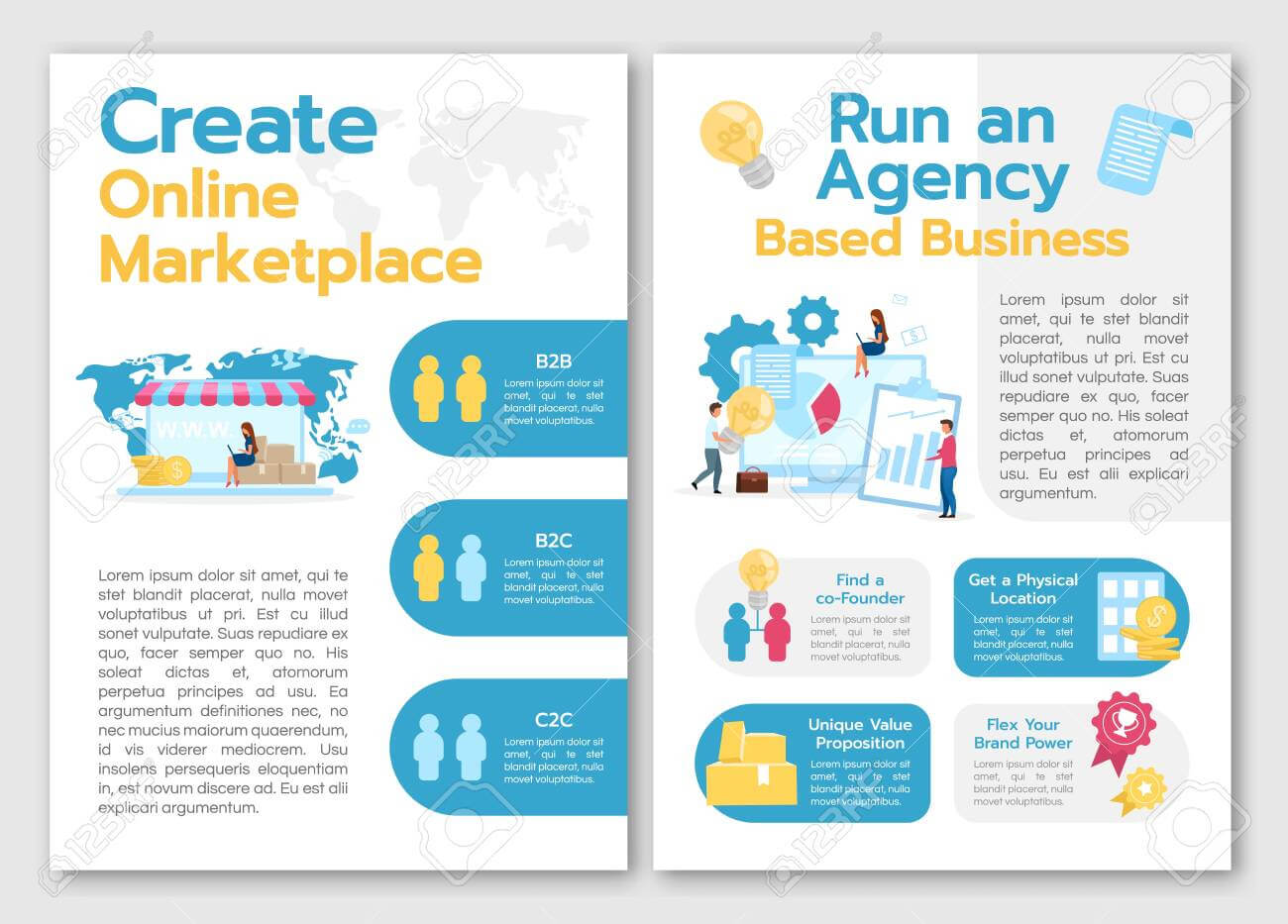 Create Online Marketplace Brochure Template. Run Agency Based.. Within Online Brochure Template Free
