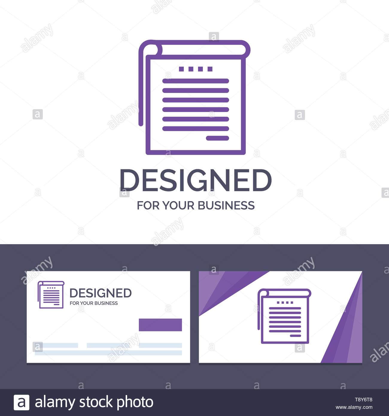 Creative Business Card And Logo Template Student, Notes Regarding Student Business Card Template
