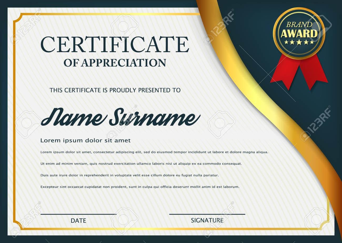 Creative Certificate Of Appreciation Award Template. Certificate.. For Template For Certificate Of Award