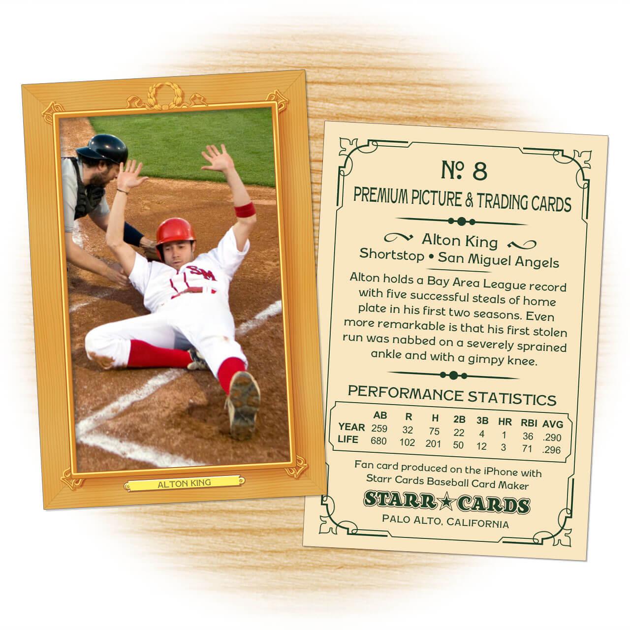 Custom Baseball Cards - Vintage 11™ Series Starr Cards With Regard To Custom Baseball Cards Template