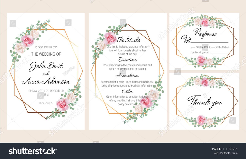 Стоковая Векторная Графика «Beautiful Modern Geometric Pertaining To Church Wedding Invitation Card Template