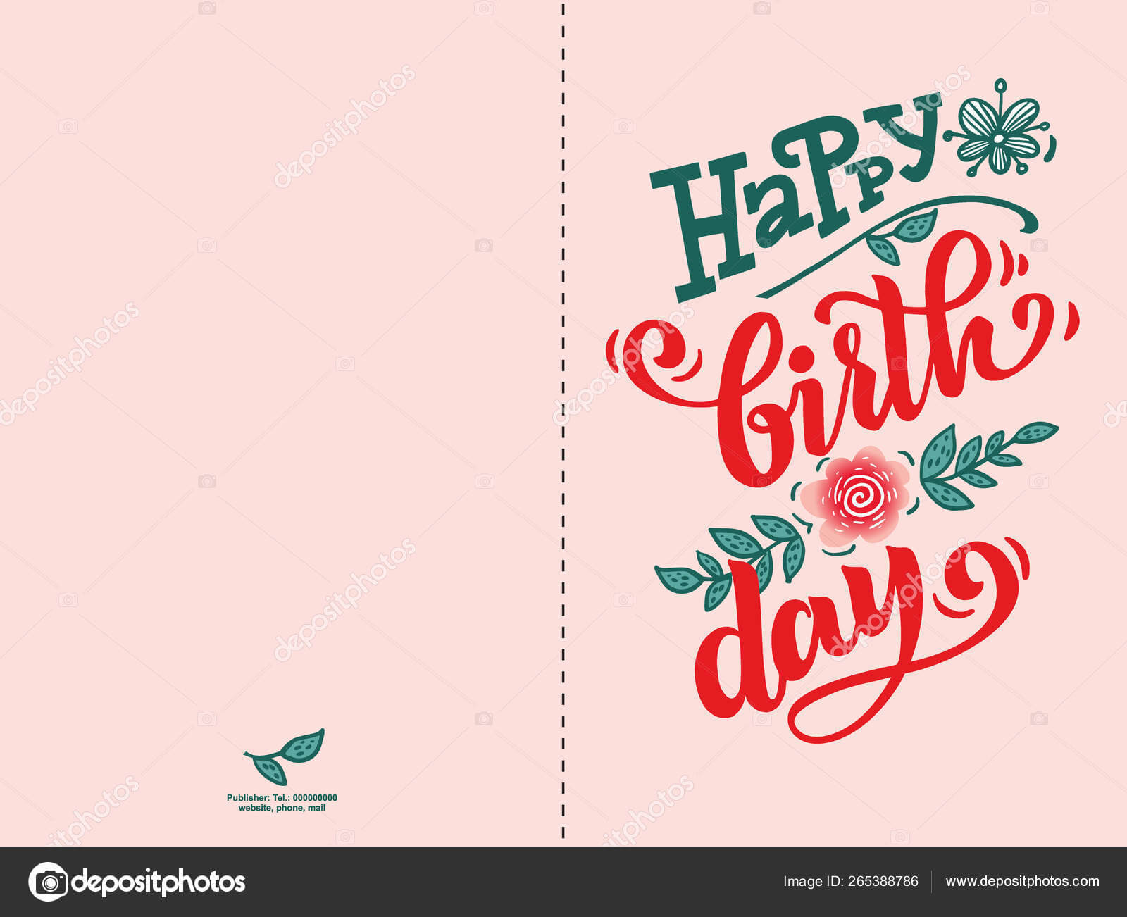 Шаблон Карточки С Днем Рождения — Векторное Изображение ...