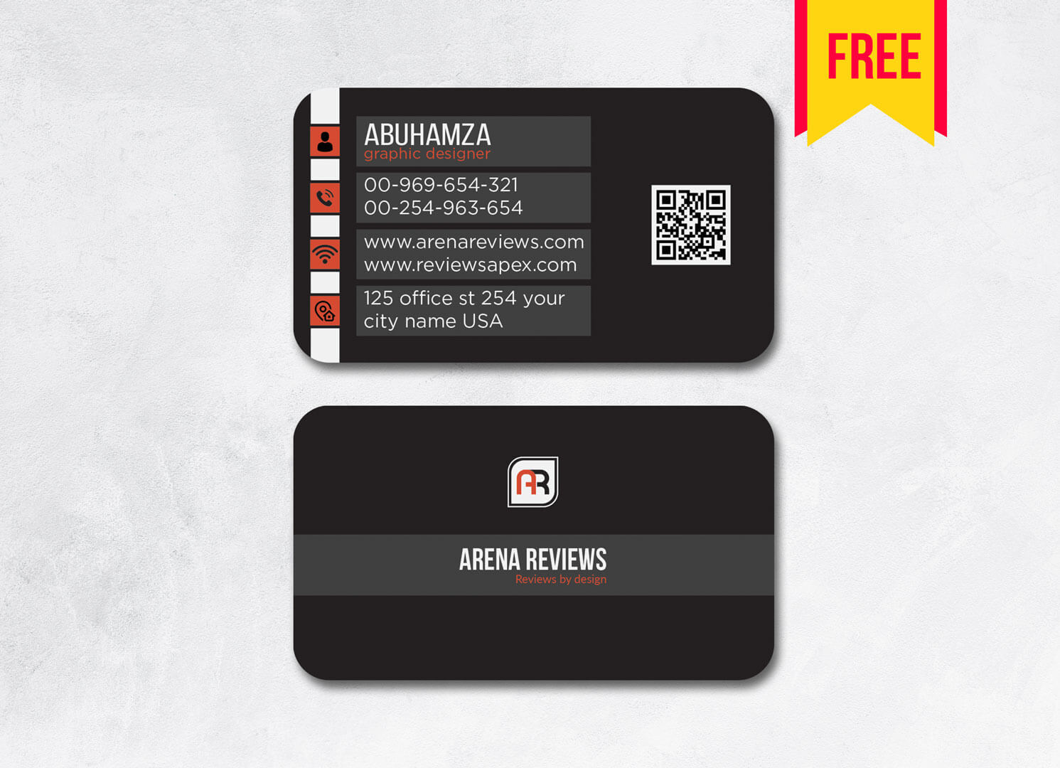 Dark Business Card Template Psd File | Free Download In Name Card Design Template Psd