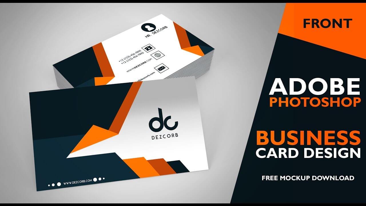 Design A Visiting Card In Photoshop - Yeppe In Visiting Card Templates For Photoshop