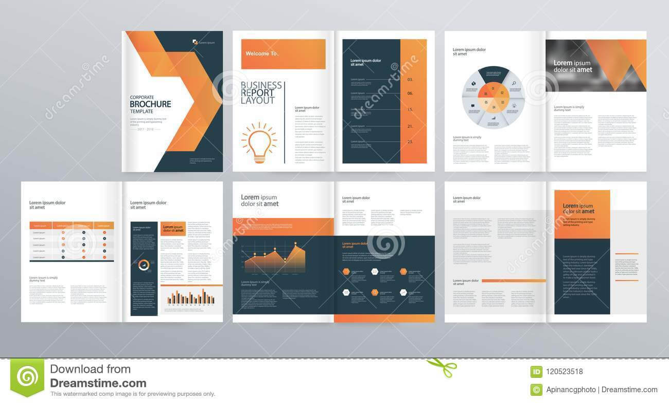 Design Layout Template For Company Profile ,annual Report Throughout Welcome Brochure Template