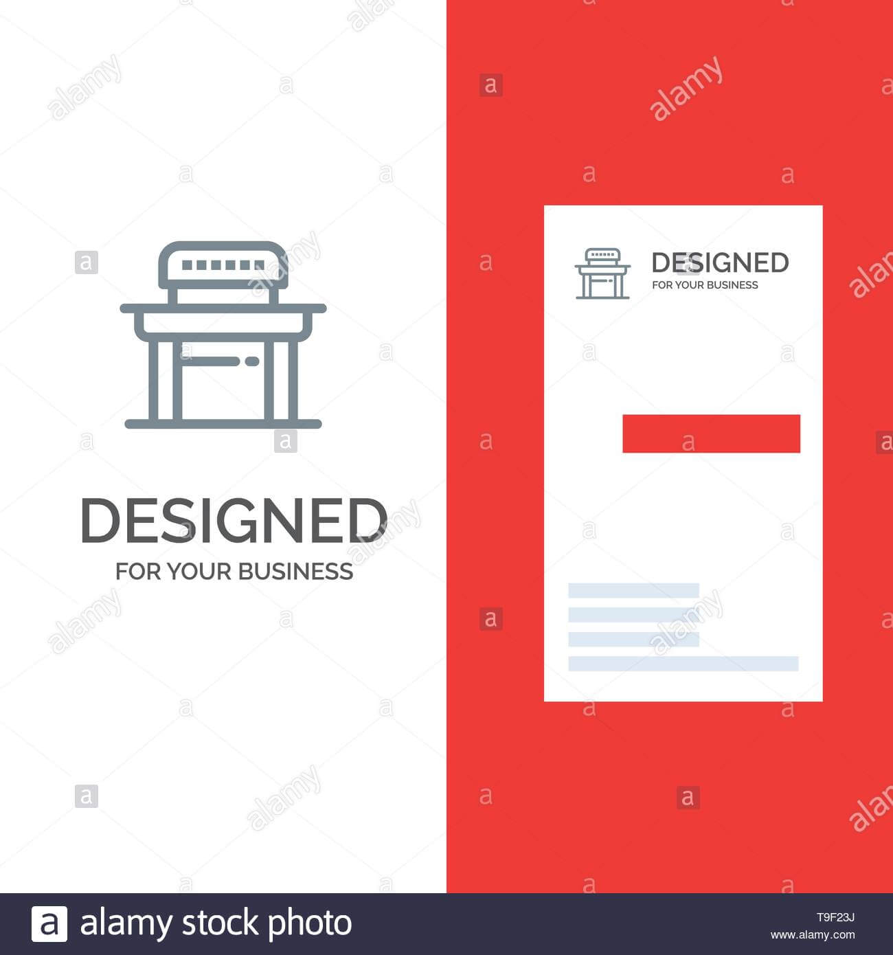 Desk, Student, Chair, School Grey Logo Design And Business Throughout Student Business Card Template