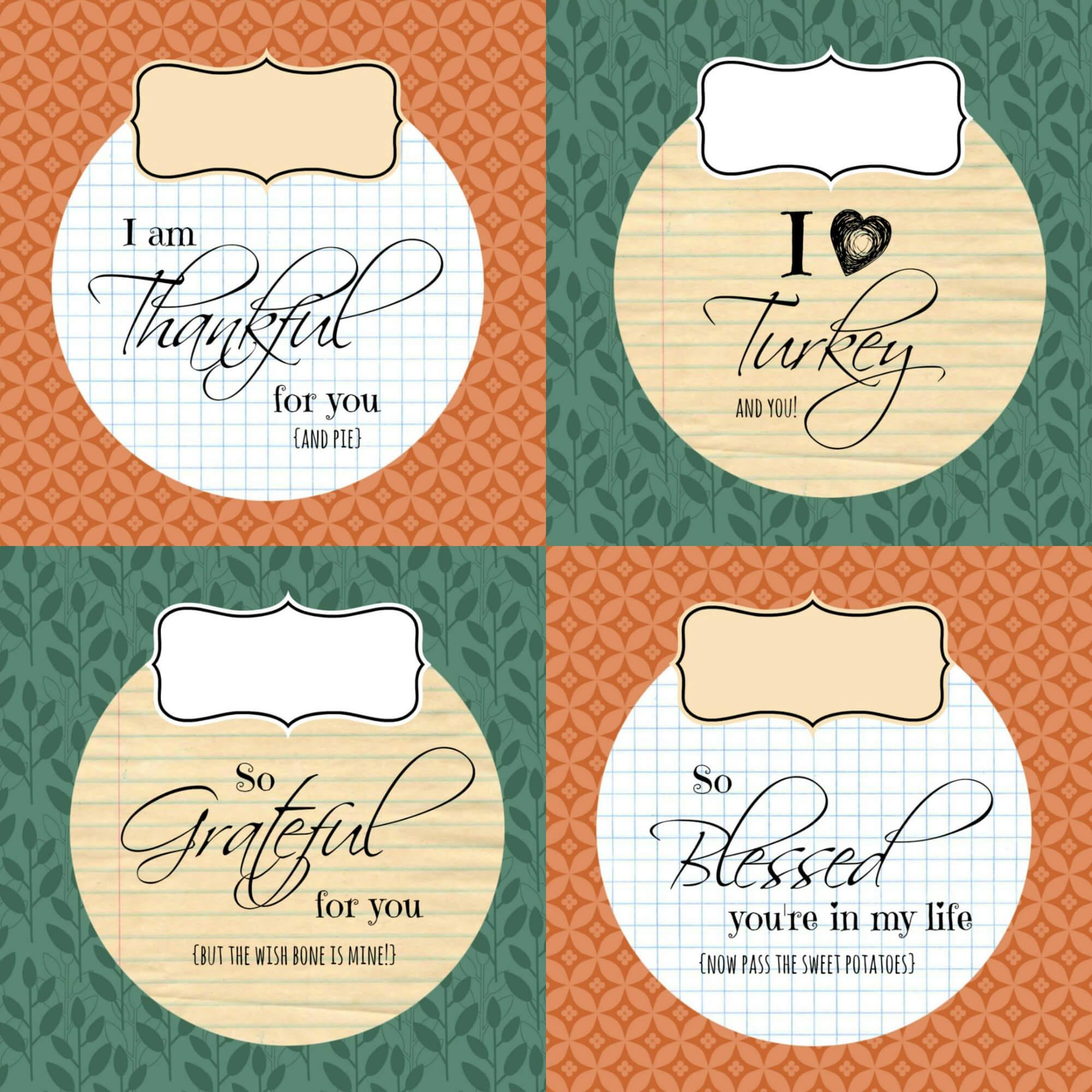 Diy Printable Thanksgiving Silverware Place Card Holders | In Thanksgiving Place Card Templates