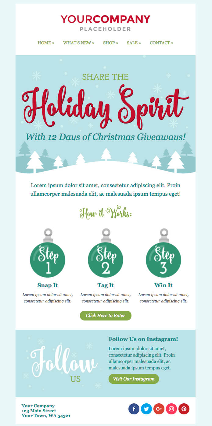 Don't Miss Out On The New Holiday Email Templates | Sendinblue Regarding Holiday Card Email Template