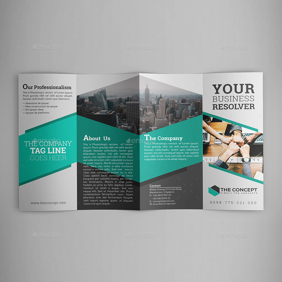 Double Gate Fold Brochure - Calep.midnightpig.co Intended For Gate Fold Brochure Template Indesign