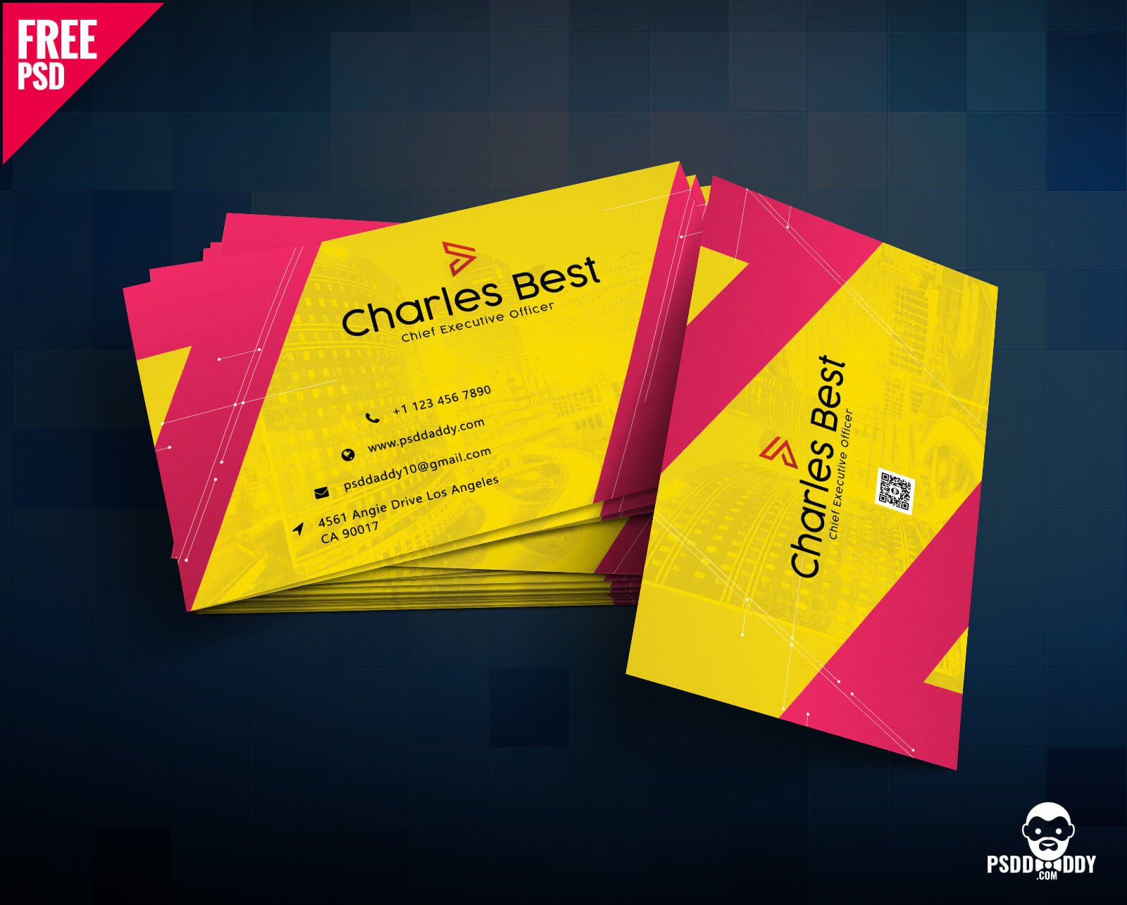 Download] Creative Business Card Free Psd   Psddaddy For Name Card Design Template Psd