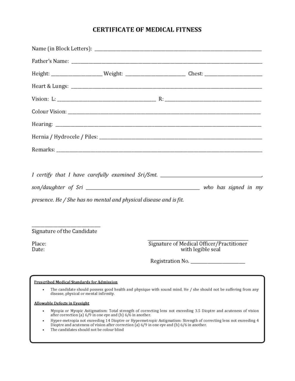 Download Medical Certificate Form – Calep.midnightpig.co Throughout Fit To Fly Certificate Template