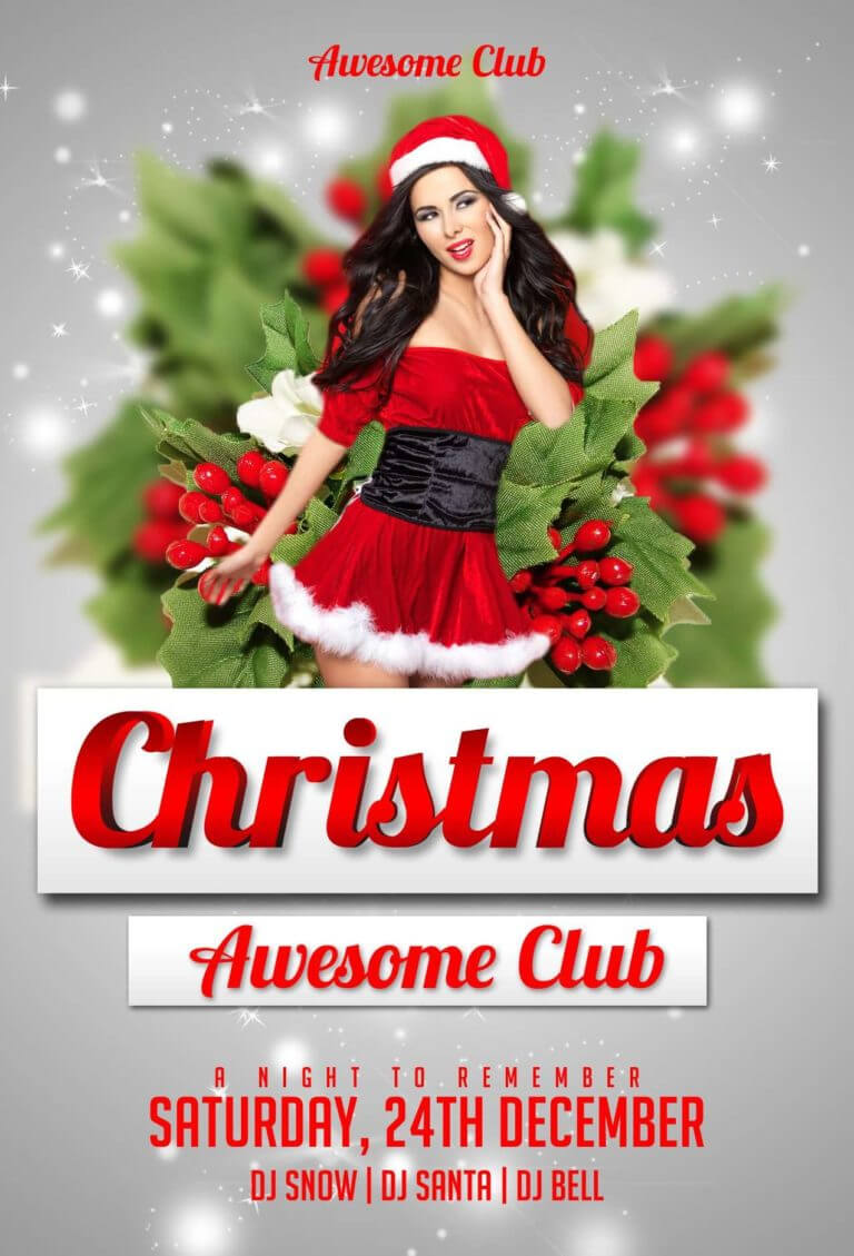 Download The Christmas Free Psd Flyer Template For Photoshop Within Christmas Brochure Templates Free