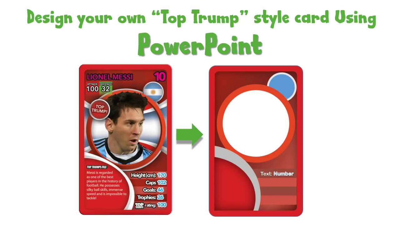 Draw A Top Trump Card Using Powerpoint - Youtube For Top Trump Card Template