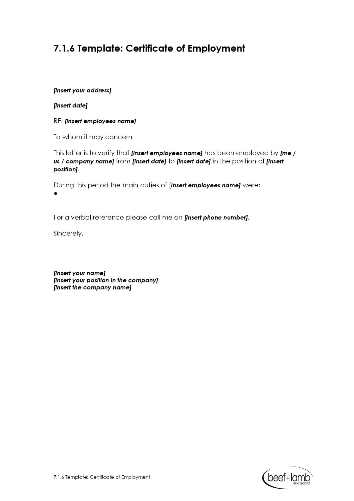Editable Certificate Of Employment Template – Google Docs Pertaining To Sample Certificate Employment Template